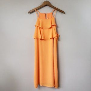 NWT Skies Are Blue | Orange Ruffle Front Dress